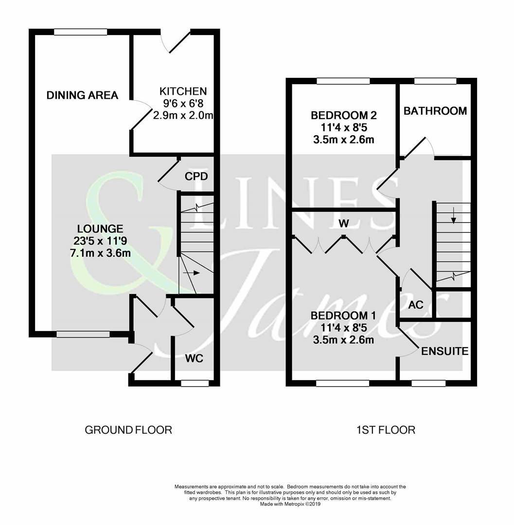 Floorplan for Burns Close, Horsham